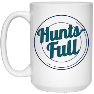 HuntsFull 15 oz. White Mug